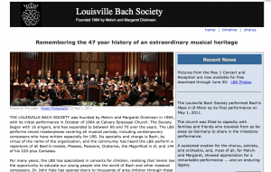Louisville Bach Society website